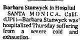 Barbara Stanwyck in Hospital