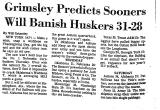 Grimsley Predicts Sooners Will...