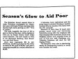 Season's Glow to Aid Poor