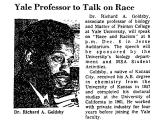 Yale Professor to Talk on Race