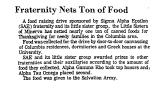 Fraternity Nets Ton of Food