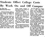 Students Offset College Costs by...