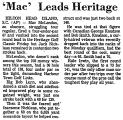 'Mac' Leads Heritage
