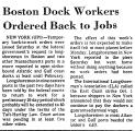Boston Dock Workers Ordered Back...
