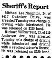 Sherriff's Report