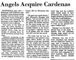 Angels Acquire Cardenas
