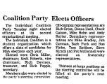 Coalition Party Elects Officers