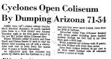 Cyclones Open Coliseum by Dumping...