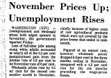 November Prices up; Unemployment...