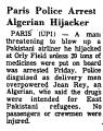 Paris Police Arrest Algerian...
