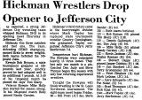 Hickman Wrestlers Drop Opener to...