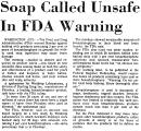 Soap Called Unsafe in FDA Warning