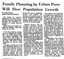 Family Planning by Urban Poor...