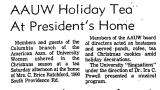 AAUW Holiday Tea at President's...