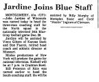 Jardine Joins Blue Staff