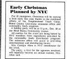 Early Christmas Planned by NYC