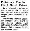 Policemen Receive Pistol Match...