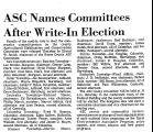 ASC Names Committees after...