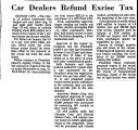 Car Dealers Refund Excise Tax