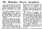 Dr. Bunche: Peace Architect