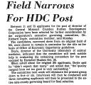 Field Narrows for HDC Post