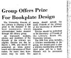 Group Offers Prize for Bookplate...