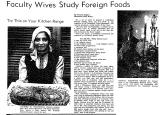 Faculty Wives Study Foreign Foods
