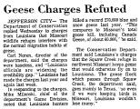 Geese Charges Refuted