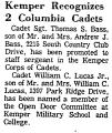 Kemper Recognizes 2 Columbia...