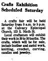 Crafts Exhibition Scheduled...