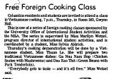 Free Foreign Cooking Class