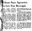 Wilson Says Agencies to Get Tax...