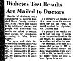 Diabetes Test Results Are Mailed...