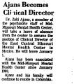 Ajans Becomes Clinical Director