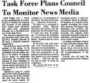 Task Force Plans Council to...