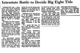 Intrastate Battle to Decide Big...