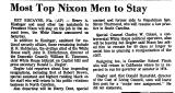 Most Top Nixon Men to Stay