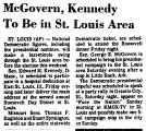 McGovern, Kennedy to be in St....