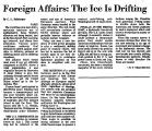 Foreign Affairs: the Ice is...