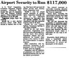 Airport Security to Run $117,000
