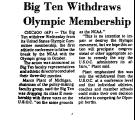 Big Ten Withdraws Olympic...