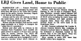 LBJ Gives Land, Home to Public