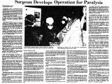 Surgeon Develops Operation for...
