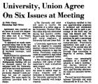 University, Union Agree on Six...