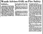 Woods Advises OAK on Fire Safety