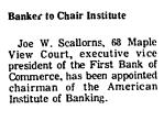 Banker to Chair Institute