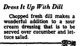 Dress it up with Dill