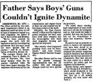Father Says Boys' Guns Couldn't...