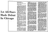 1st All-Stars Made Debut in...