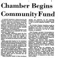 Chamber Begins Community Fund